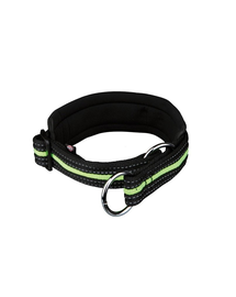 TRIXIE Fényvisszaverő nyakörv s–m 33–39 cm - 25 mm fekete-zöld