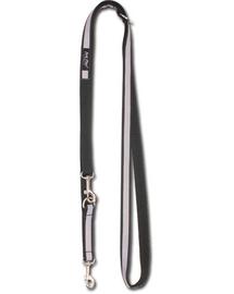 AMIPLAY Póráz nxor 100 - 200 cm - 2 cm fekete + fényvisszaverő