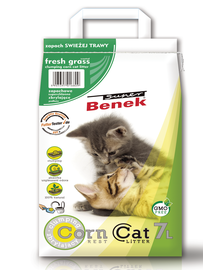 BENEK Szuper corn cat kukorica friss fű, alom 7 l