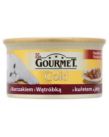 GOURMET Gold darabok mártásban csirkével és májjal 85 g