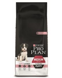 PURINA Pro Plan Medium Puppy with Optiderma - lazacban gazdag 12 kg