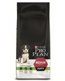 PURINA Pro Plan Medium Puppy with Optistart - csirkében gazdag 12 kg