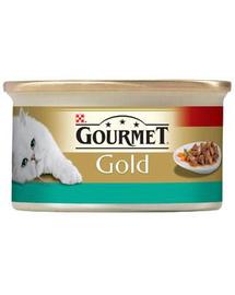 GOURMET Gold lazac és csirke mártásban 85 g