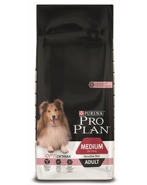PURINA Pro Plan Medium Adult with Optiderma - lazacban gazdag 14 kg