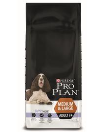 PURINA Pro Plan Dog Medium & Large Adult 7+ with Optiage - csirkében gazdag 14 kg
