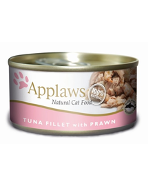 APPLAWS Konzerv macskáknak tonhal és garnélarák 156 g