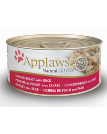 APPLAWS Konzerv macskáknak csirke és kacsa 70 g