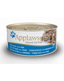 APPLAWS Konzerv macskáknak tonhal és rák 70 g