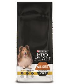 PURINA Pro Plan Dog All Sizes Adult Light/Sterilised with Optiweight - csirkében gazdag 14 kg