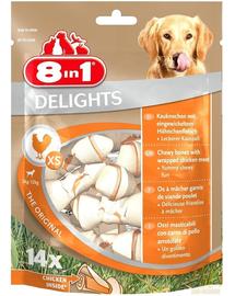8IN1 Jutalomfalat Delights Bones XS 14 db