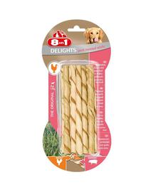 8IN1 Jutalomfalat Delights Pork Twisted Sticks 10 db