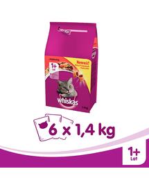 WHISKAS Adult marhahús 14kg x 6