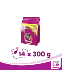 WHISKAS Junior csirkével 300 g x14