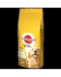 PEDIGREE Vital Protection felnőtt kutyáknak, szárnyas és zöldség  15 kg