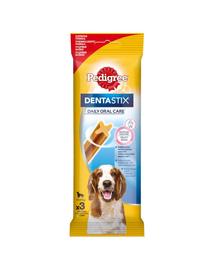 PEDIGREE Fogászati jutalomfalat közepes méretű kutyáknak Dentastix 77 g