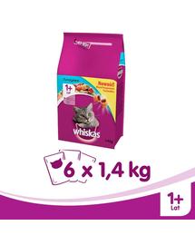 WHISKAS Felnőtt tonhallal 14 kg x 6
