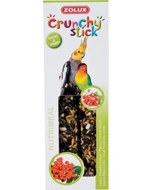 ZOLUX Crunchy Stick nagy papagájoknak ribizli-berkenye 115 g