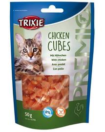 TRIXIE Snacki premio cubes csirke 50 g