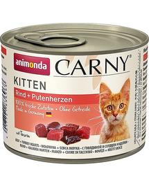 ANIMONDA Carny Konzerv Kitten marhahús-pulykaszív 200 g