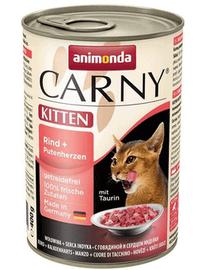 ANIMONDA Carny Konzerv Kitten marhahús-pulykaszív 400 g