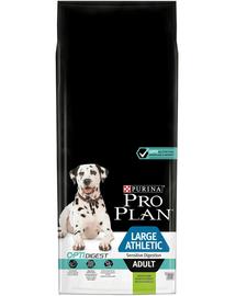 PURINA Pro Plan Large Adult Athletic Sensitive Digestion with Optidigest - bárányban gazdag 14 kg