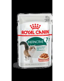 ROYAL CANIN INSTICTIVE 7+ - idősödő macska szószos nedves táp 85g x12