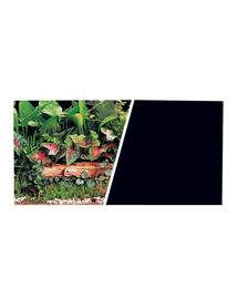 HAGEN Kétoldalas háttér akváriumba, Fekete növények 30x75cm