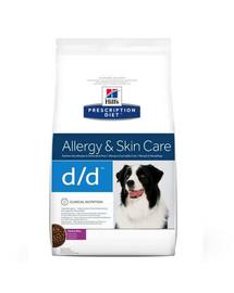 HILL'S Prescription Diet Canine d-d Duck - Rice 2 kg