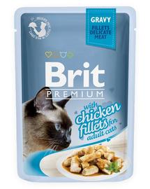 BRIT Premium Cat Fillets in Gravy kurczak 85g