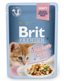 BRIT Premium Cat Fillets in Gravy Kitten chicken 85g