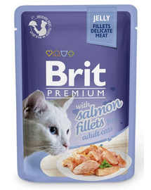 BRIT Premium Cat  Fillets in Jelly łosoś 85g