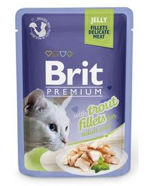 BRIT Premium Cat  Fillets in Jelly pstrąg 85g
