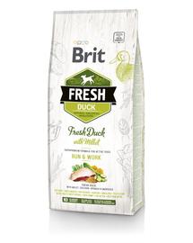 BRIT Fresh duck with millet active run & work 12 kg