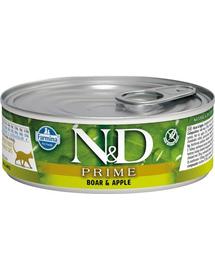 N&D Cat prime boar & apple 80 g