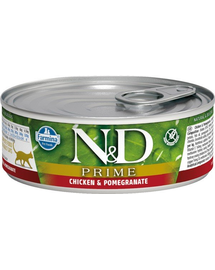 N&D Cat prime chicken & pomegranate 80 g