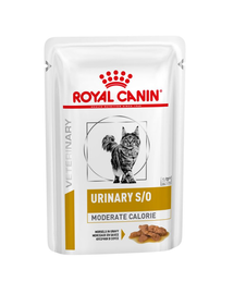 ROYAL CANIN Veterinary Diet Feline Urinary S/O Moderate Calorie 12x100 g