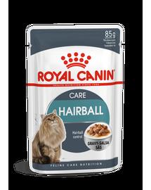 ROYAL CANIN HAIRBALL CARE - szószos nedves táp felnőtt macskák részére a szőrlabdák könnyebb eltávozásáért 85g x 12