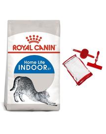 ROYAL CANIN INDOOR - lakásban tartott felnőtt macska száraz táp 2 kg + ecset szett  macskához és a kanapé tisztításához