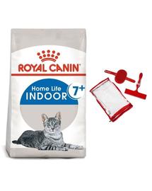 ROYAL CANIN INDOOR 7+ - lakásban tartott idősödő macska száraz táp 1,5 kg + ecset szett  macskához és a kanapé tisztításához