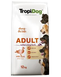 TROPIDOG Premium Adult M&L Duck&Rice 12kg
