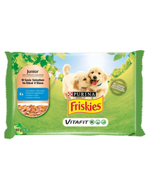 FRISKIES Junior csirke és répa mártásban tasak 4x100g